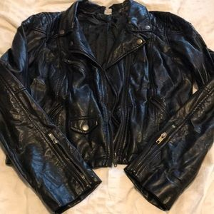 Classic leather style jacket size med